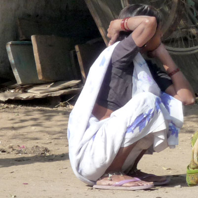 lady squatting